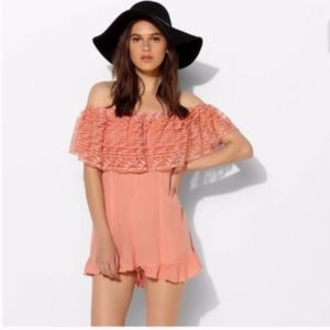 Kimchi Blue pink lace Romper size S NWT